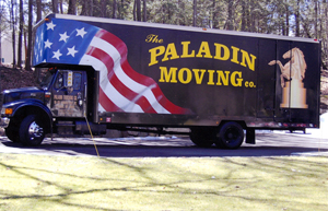 Photo of a Paladin truck at a new home. Besides Manhattan, Paladin covers Queens, Brooklyn, the Bronx, Staten Island, and Long Island.
