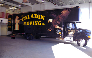 Paladin Moving Company's unmistakable trucks travel throughout Manhattan, Brooklyn, Queens, the Bronx, Staten Island, and Long Island.